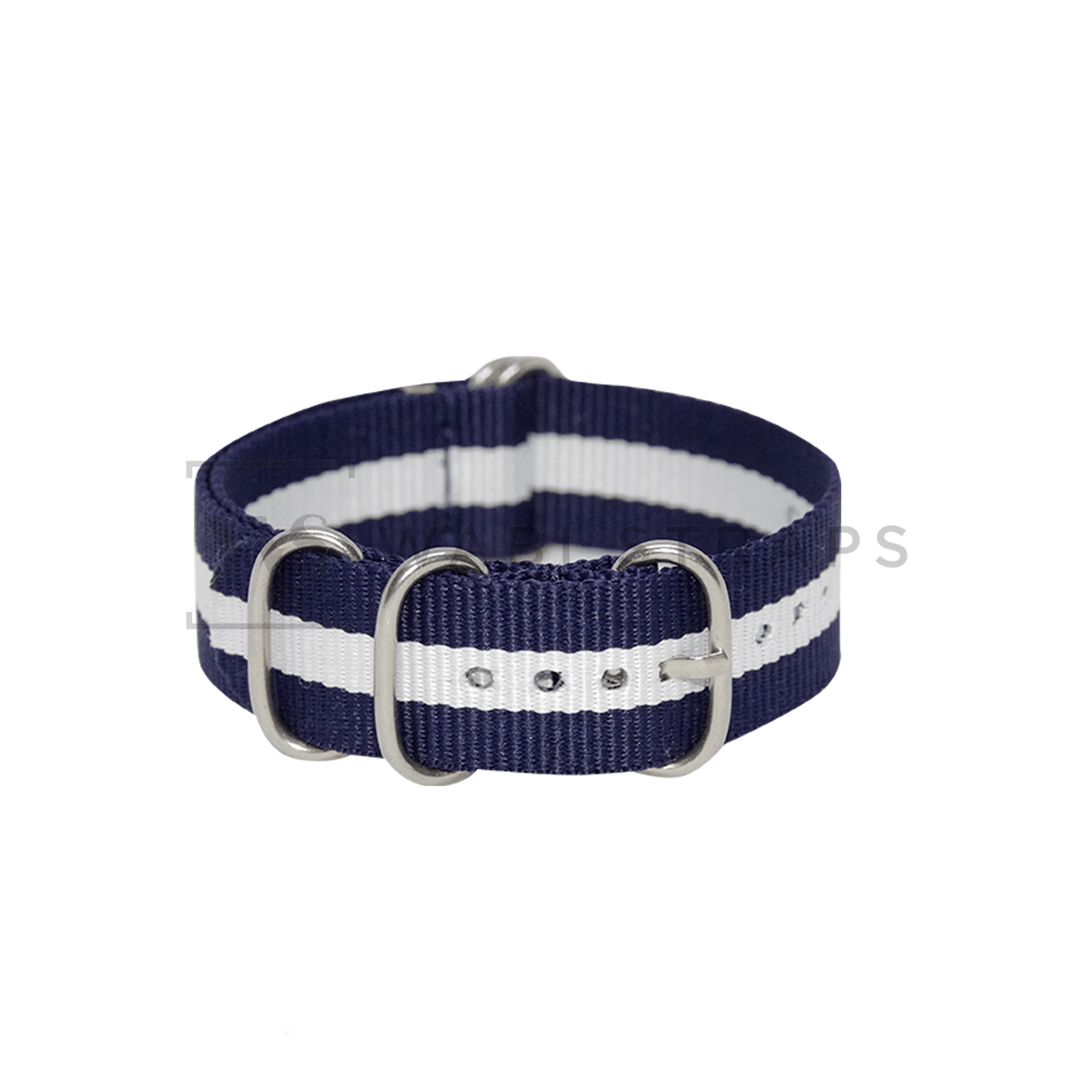 Blue & White Striped ZULU Strap Round