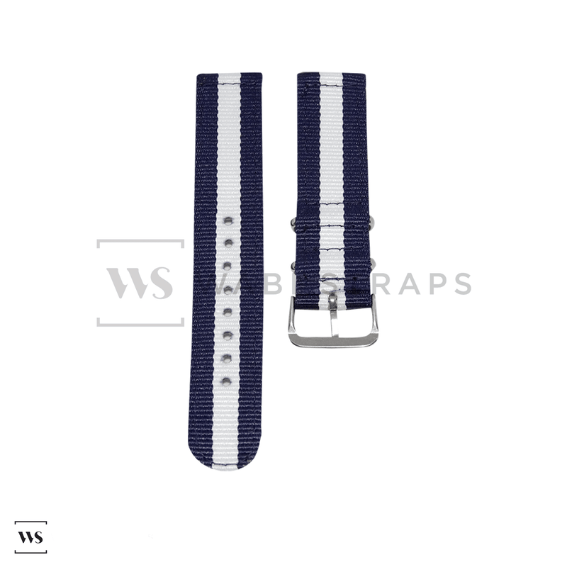 Blue & White Two Piece NATO Strap Front