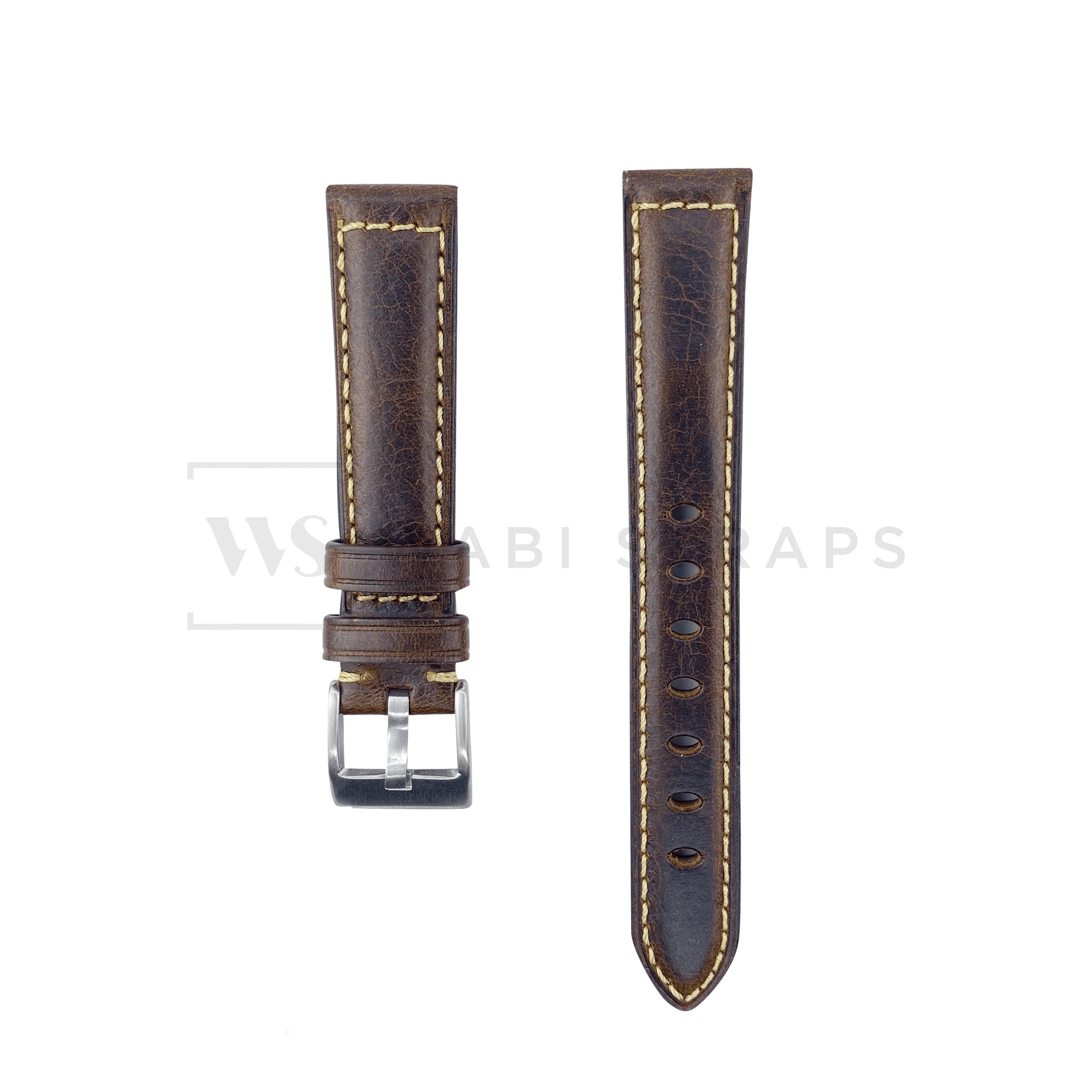 Bronze Oxford Padded Leather Strap Front