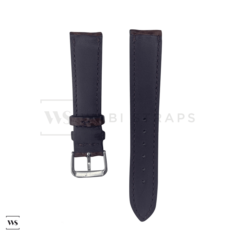 Brown Alligator Exotic Leather Strap Front