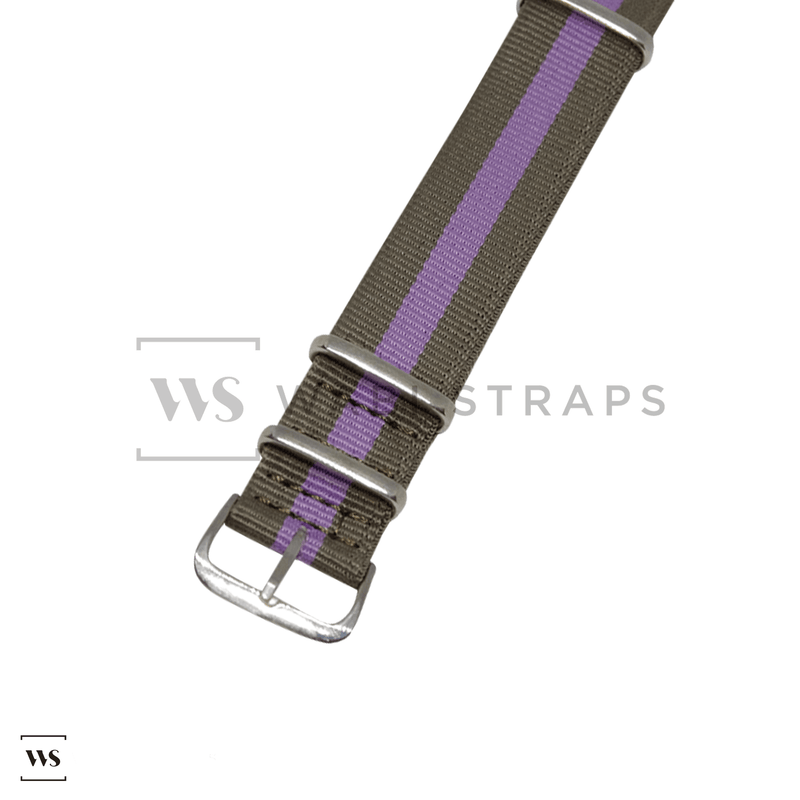 Brown & Purple Classic NATO Strap Round