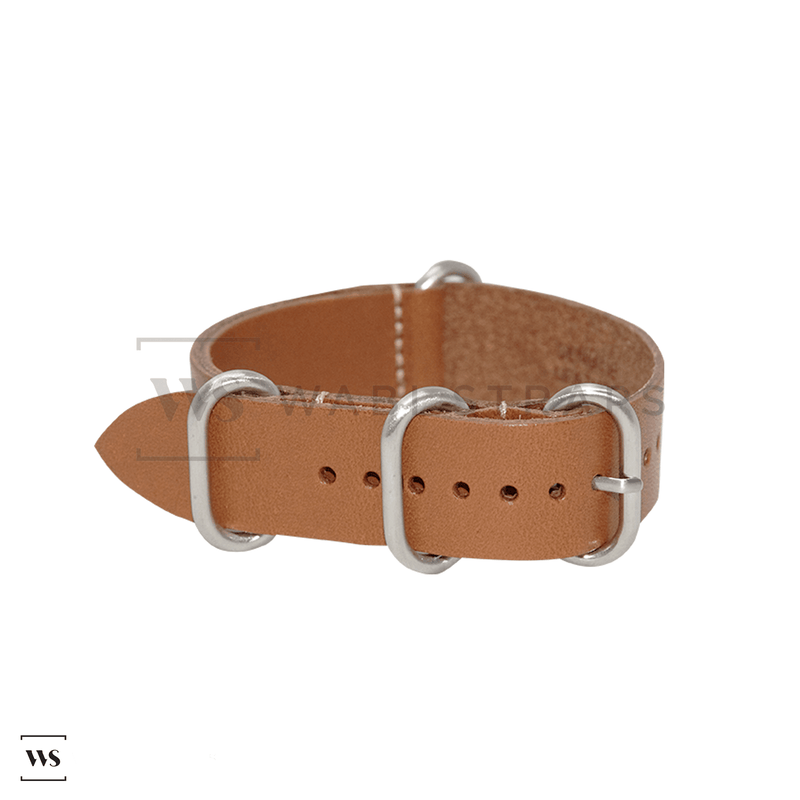 Camel Vintage Leather ZULU Strap Folded