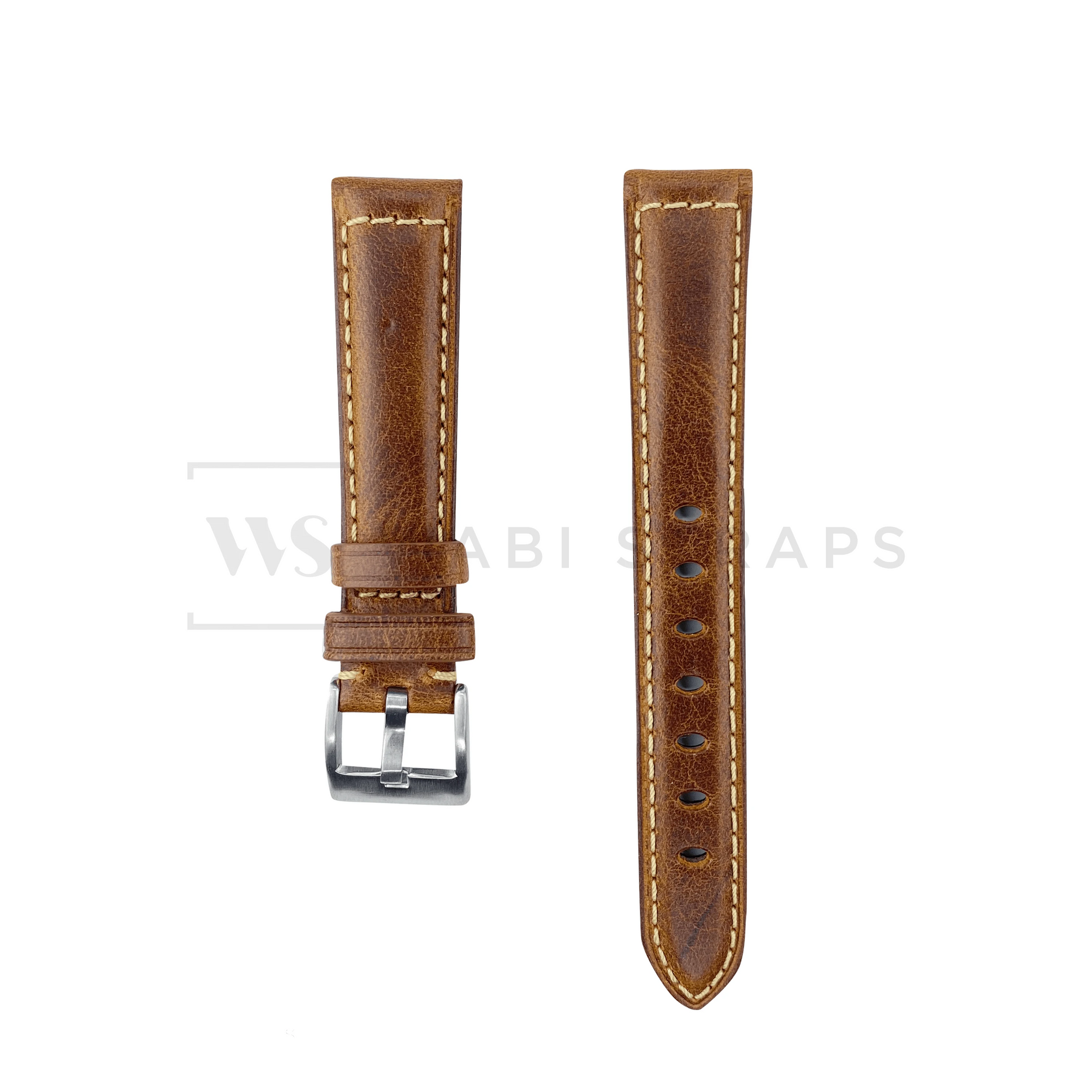 Chestnut Tan Oxford Padded Leather Strap Front