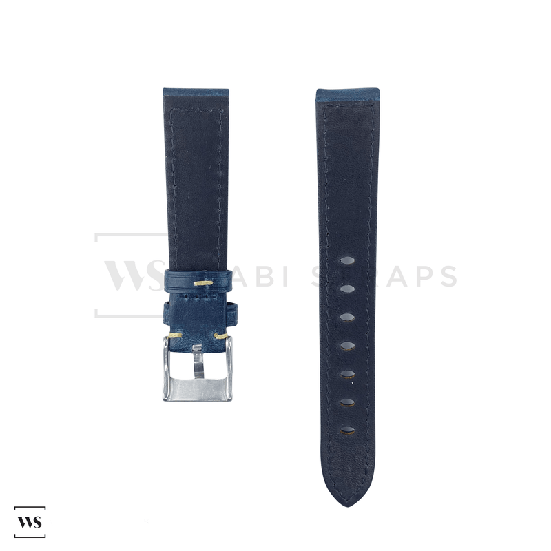 Cobalt Blue Oxford Padded Leather Strap Front