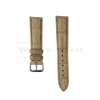 Cream Crocodile Artisan Leather Strap Front