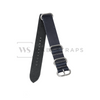 Dark Blue Vintage Leather ZULU Strap Folded