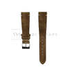 Dirty Green Velvet Watch Strap Front