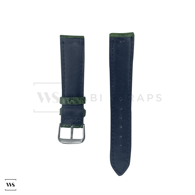 Green Alligator Exotic Leather Strap Front