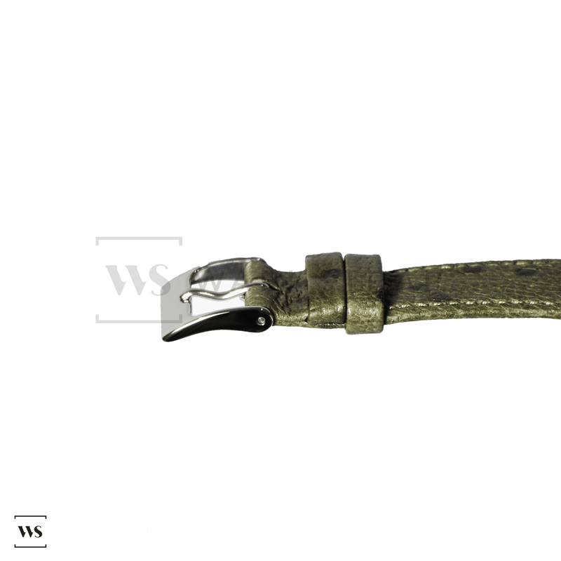 Green Ostrich Grain Watch Strap