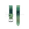 Green Python Rubber Watch Band Round