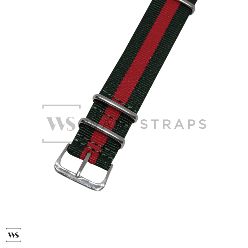 Green & Red Classic NATO Strap