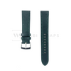 Green Thick Leather Watch Strap Front