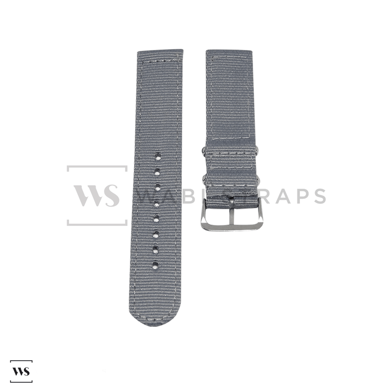 Grey Basic Two Piece NATO Strap Front