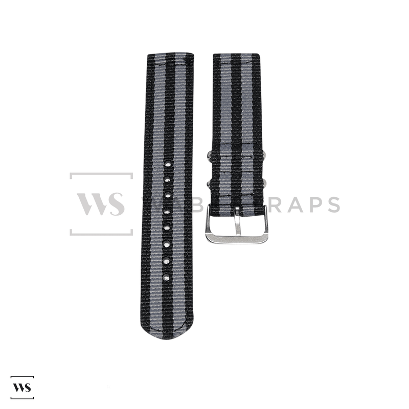 Grey & Black Two Piece NATO Strap Front