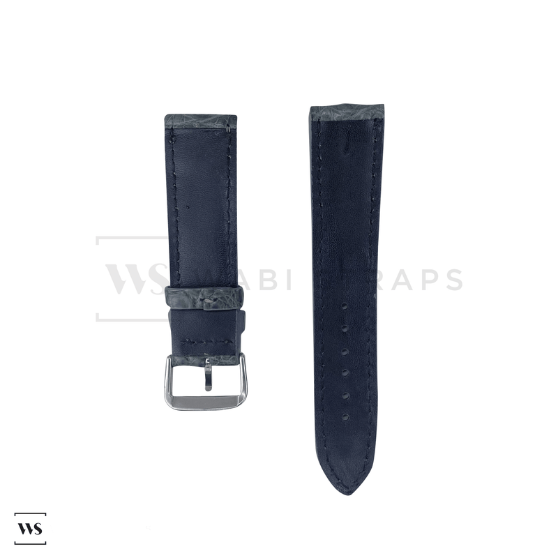 Grey Hornback Alligator Leather Strap Front