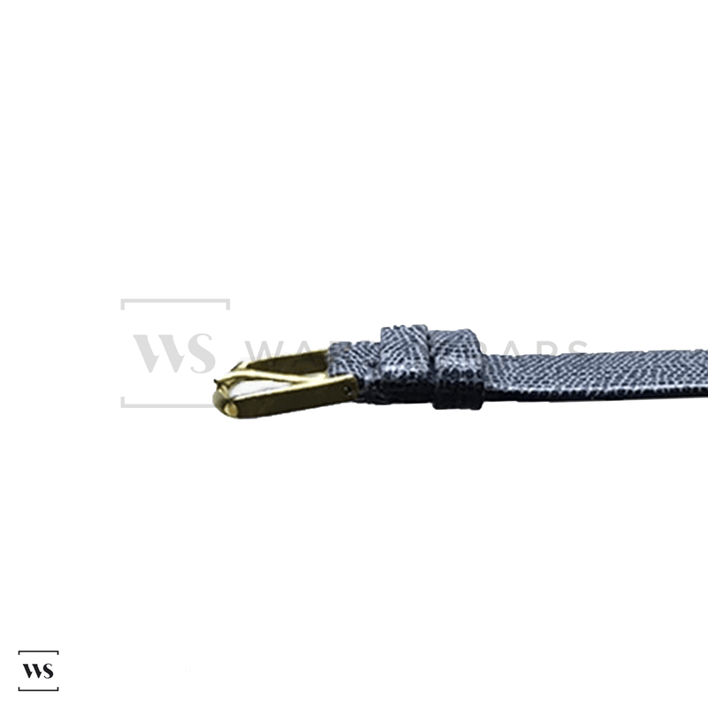 Grey Lizard Leather Watch Strap Front