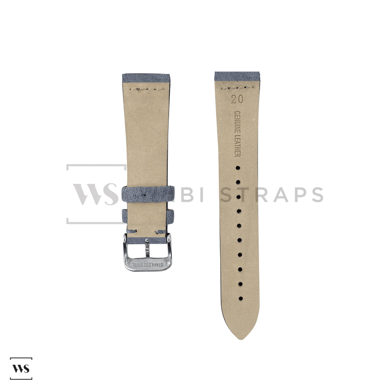 Grey Suede Watch Strap Front