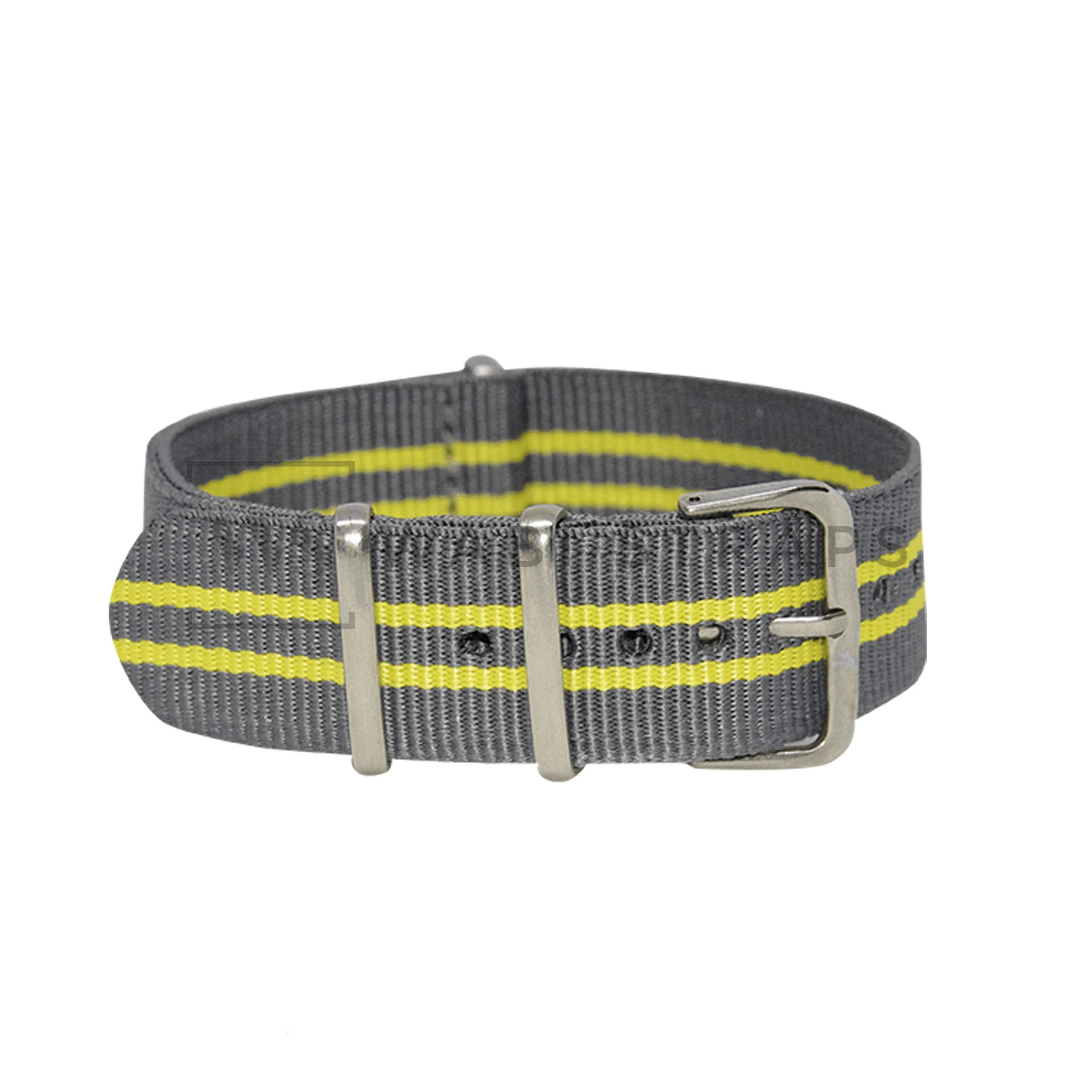 Grey & Yellow Regimental NATO Strap Round