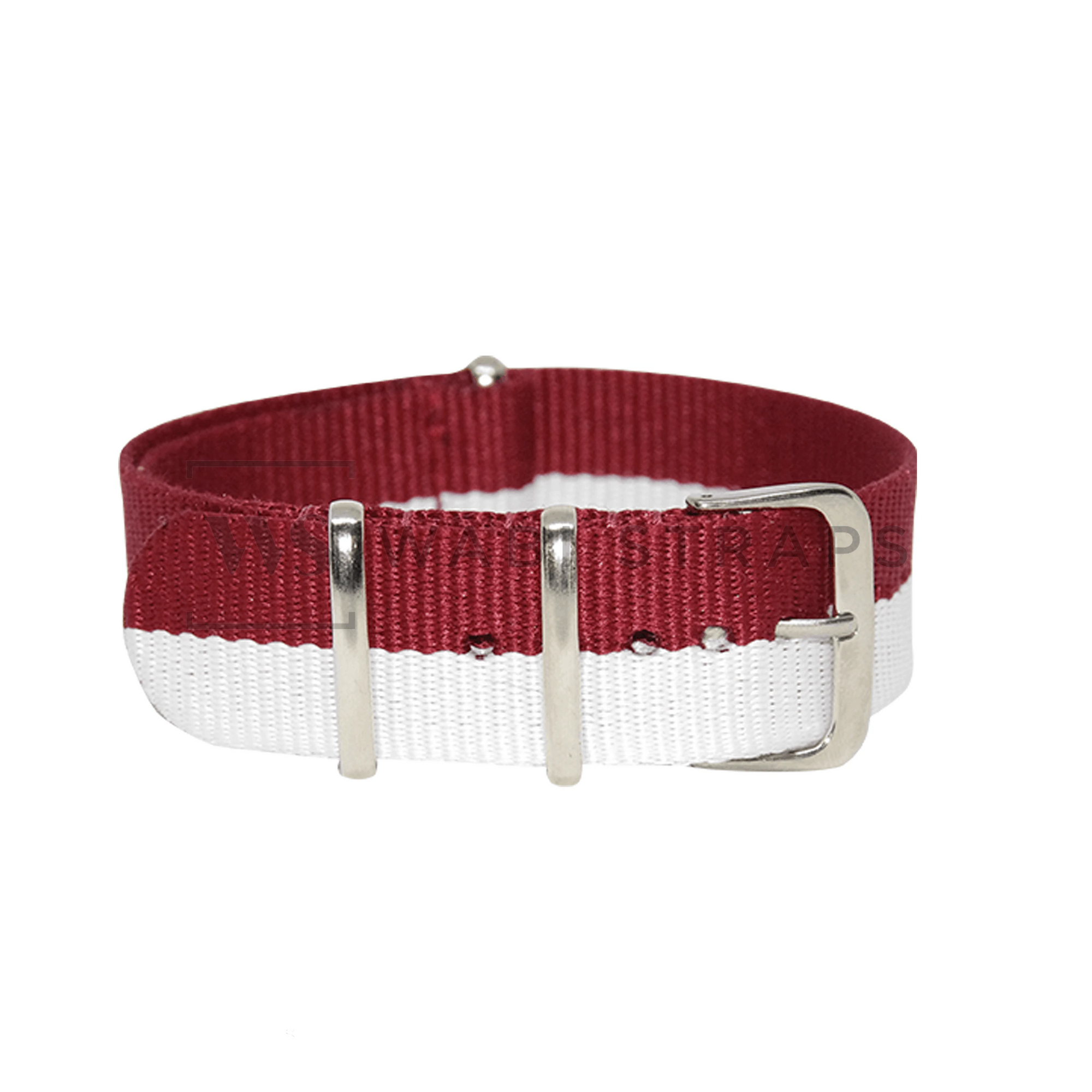 Hello Red & White Unique NATO Strap Round