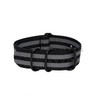 James Bond Striped ZULU Strap (Black Buckle) Round