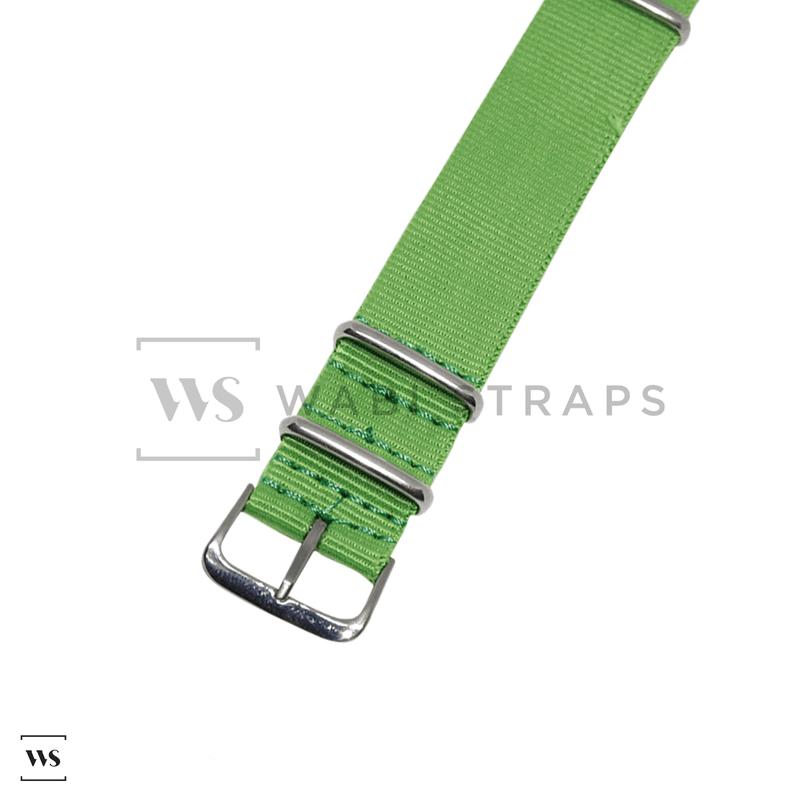 Light Green Neon NATO Strap Round