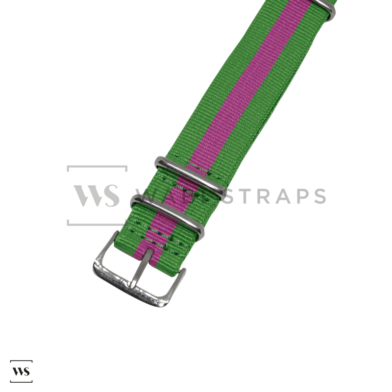 Lime Green & Pink Classic NATO Strap Round