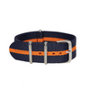 Navy Blue & Orange Diver NATO Strap Round