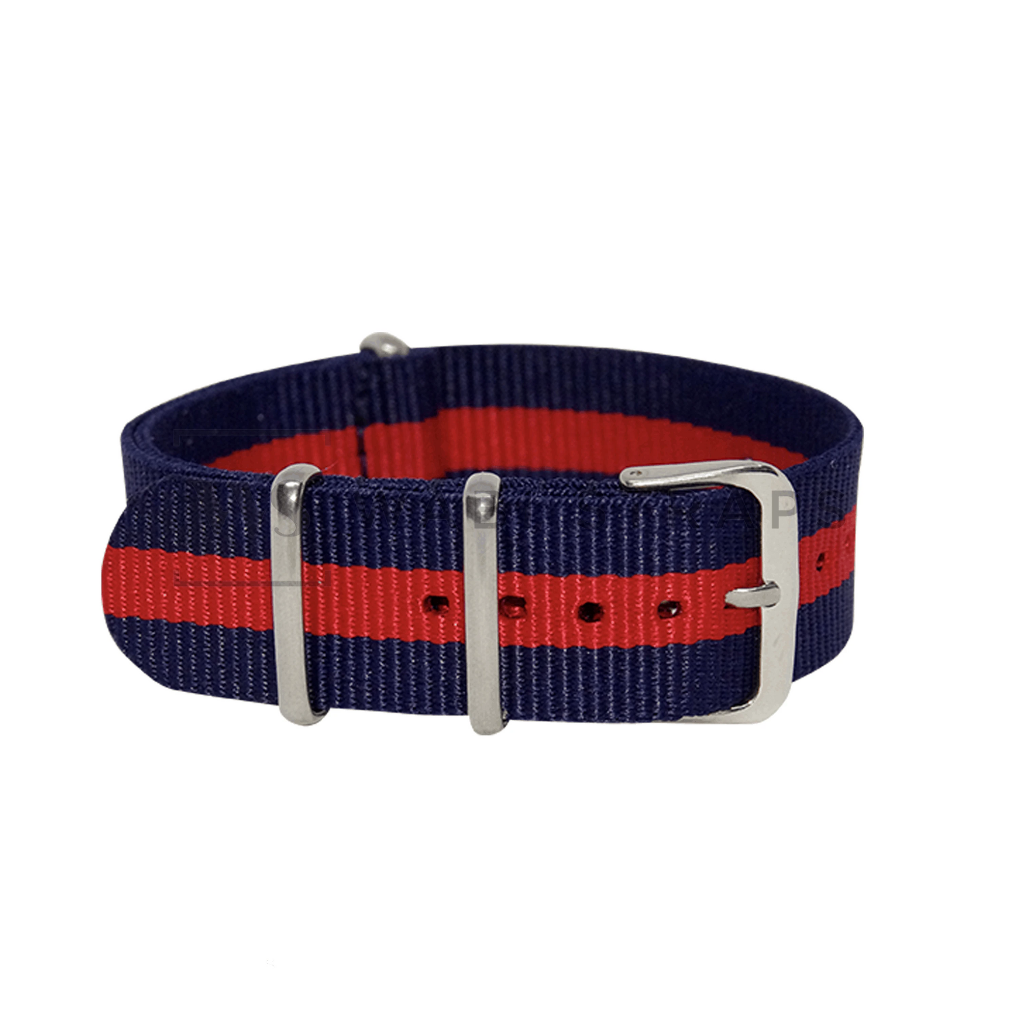 Navy Blue & Red Classic NATO Strap