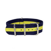 Navy Blue & Yellow Classic NATO Strap Round