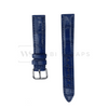 Navy Blue Crocodile Artisan Leather Strap Front