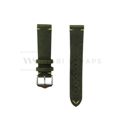Vintage Style Leather Watch Strap