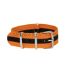 Orange & Black Classic NATO Strap Round