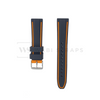 Orange Trim Silicone Waterproof Strap Front