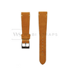 Orange Velvet Watch Strap Front