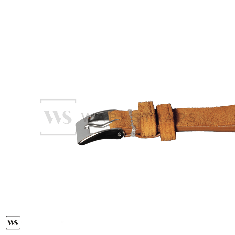 Orange Velvet Watch Strap