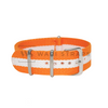 Orange & White Classic NATO Strap Round