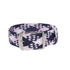 Pink, Blue & White Braided Perlon Strap Round