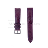 Purple Ostrich Handcrafted Leather Strap Front