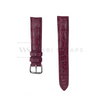Red Alligator Exotic Leather Strap Front