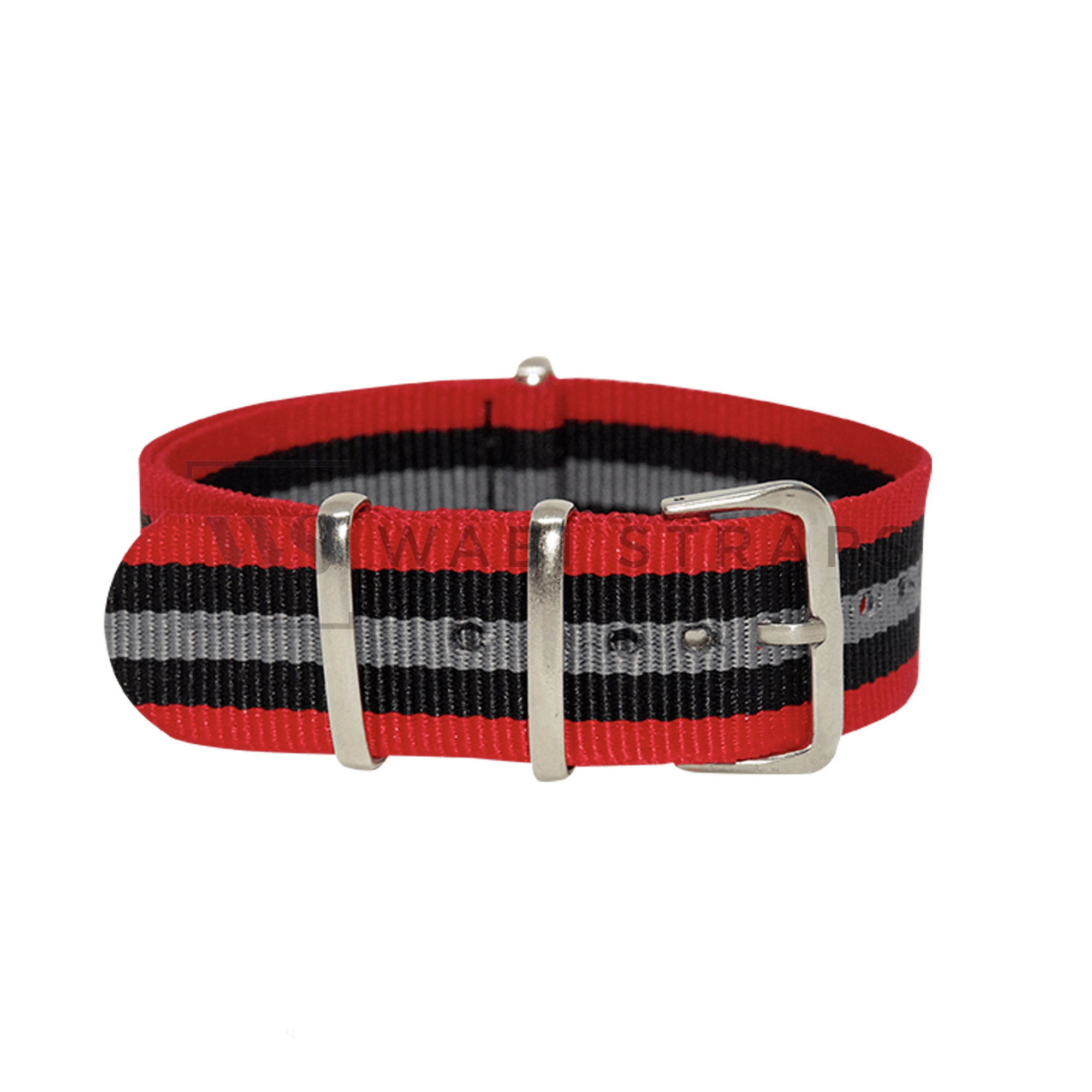 Red, Black & Grey Original NATO Strap Round