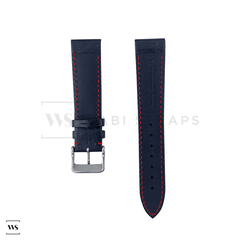 Red Stitched Classic Black Leather Strap SS Front