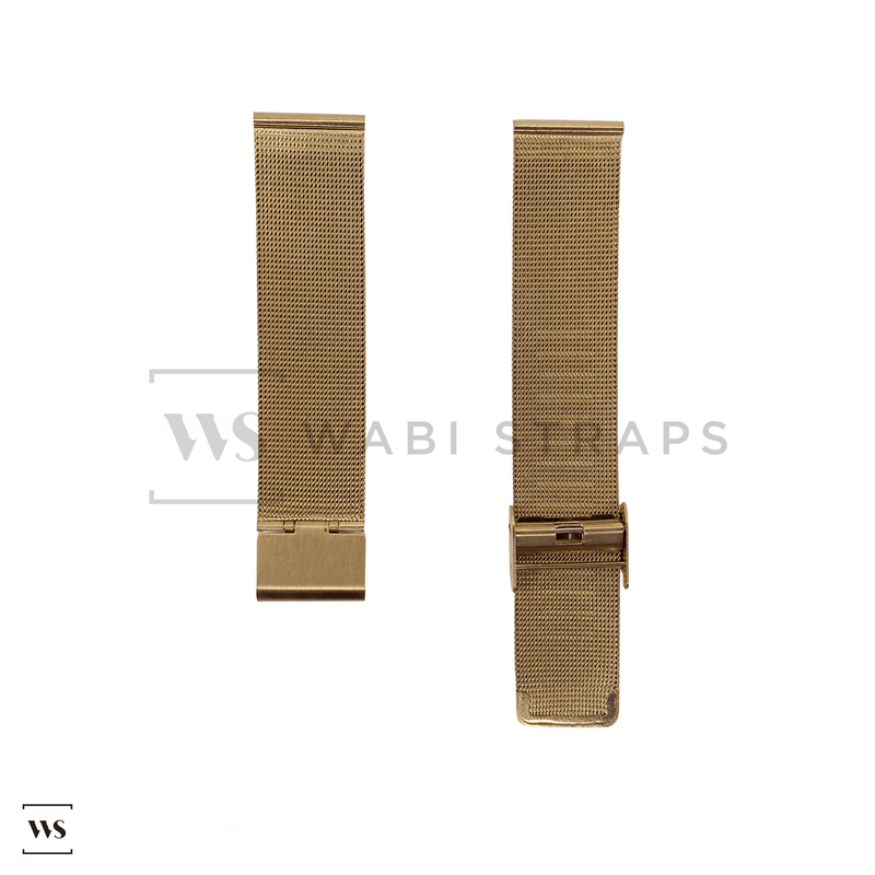 Rose Gold Milanese Watch Band Round