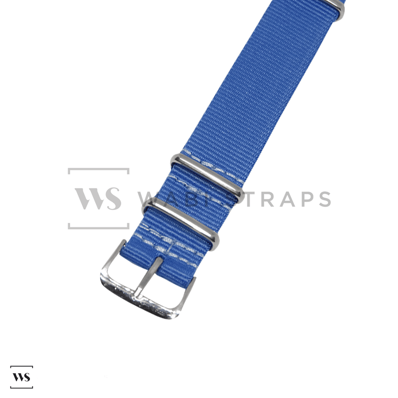 Royal Blue Neon NATO Strap Round