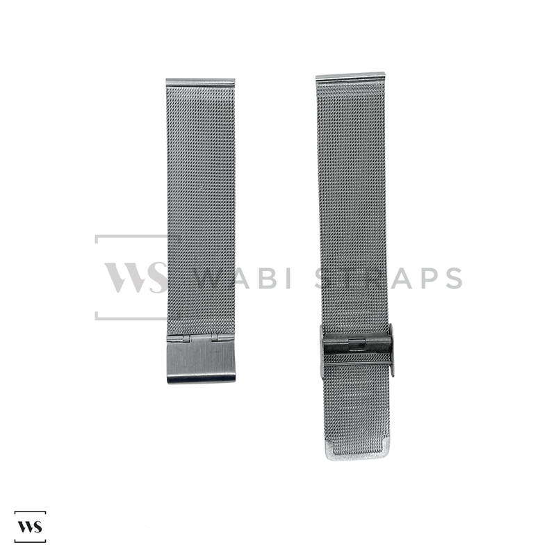 Silver Milanese Watch Band Round