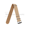 Beige Crazy Horse Leather NATO Strap Folded