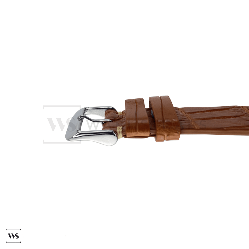 Tan Bamboo Vintage Leather Strap