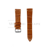 Tan Bamboo Vintage Leather Strap Front