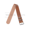 Tan Faux PU Leather NATO Strap Folded