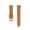 Tan Suede Watch Strap Front