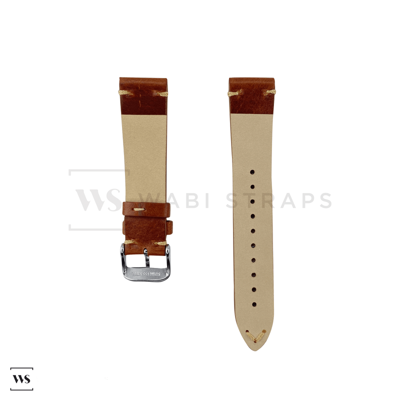 Tan Two Stitch Smooth Leather Strap